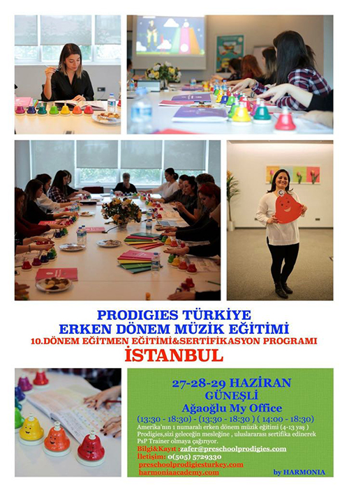 Prodigies Türkiye Erken Dönem Müzik Eğitimi 10. Dönem Eğitmen Eğitimi