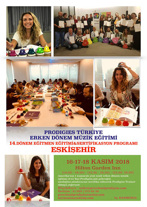 Prodigies Türkiye Erken Dönem Müzik Eğitimi 14. Dönem Eğitmen Eğitimi