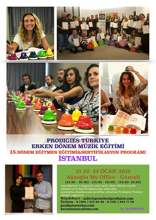 Prodigies Türkiye Erken Dönem Müzik Eğitimi 15. Dönem Eğitmen Eğitimi