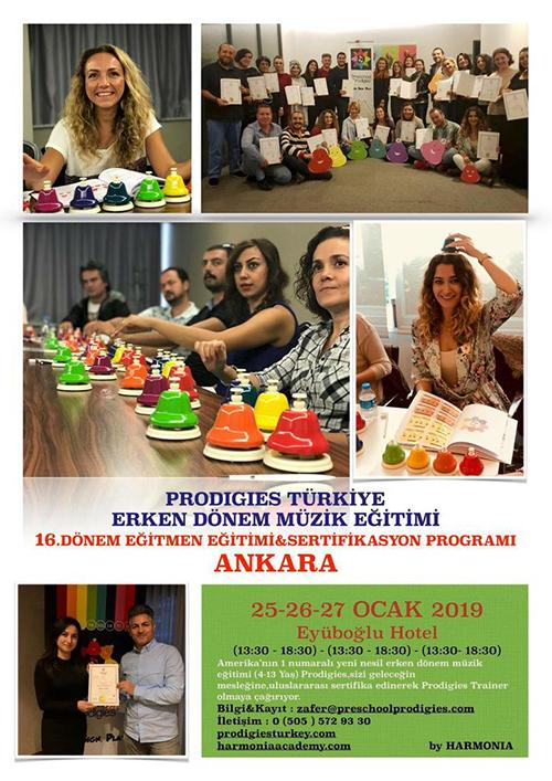 Prodigies Türkiye Erken Dönem Müzik Eğitimi 16. Dönem Eğitmen Eğitimi