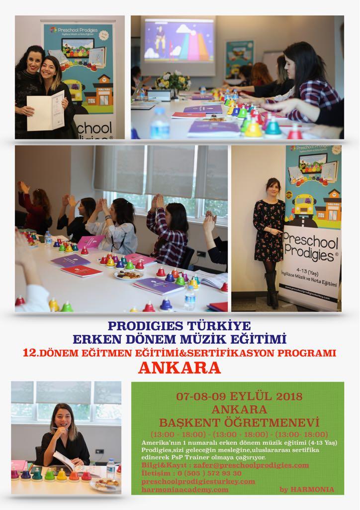 Prodigies Türkiye Erken Dönem Müzik Eğitimi 12. Dönem Eğitmen Eğitimi