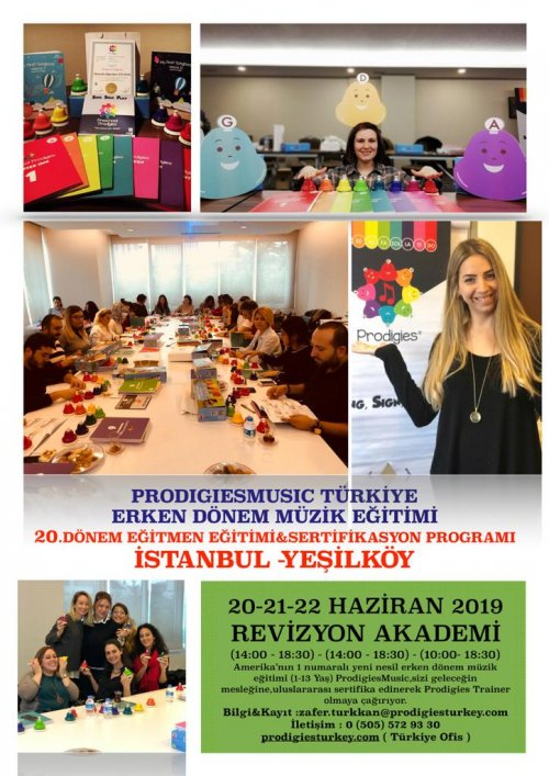 Prodigies Türkiye Erken Dönem Müzik Eğitimi 20. Dönem Eğitmen Eğitimi