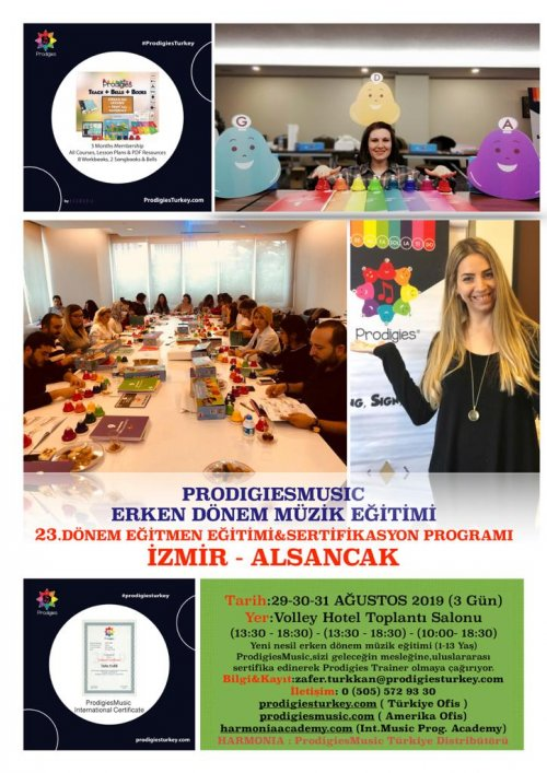 Prodigies Türkiye Erken Dönem Müzik Eğitimi 23. Dönem Eğitmen Eğitimi