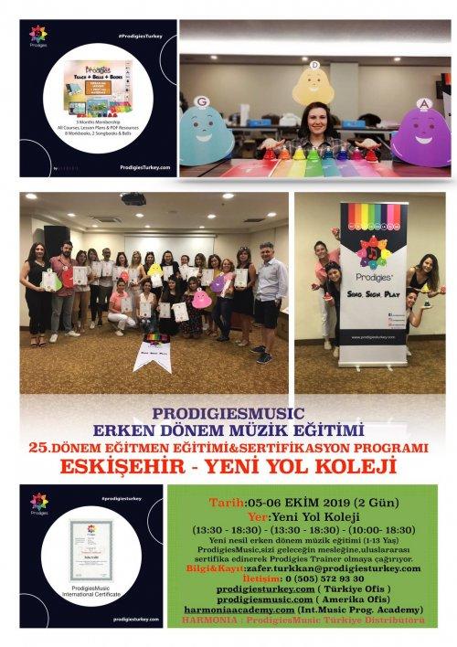 Prodigies Türkiye Erken Dönem Müzik Eğitimi 25. Dönem Eğitmen Eğitimi