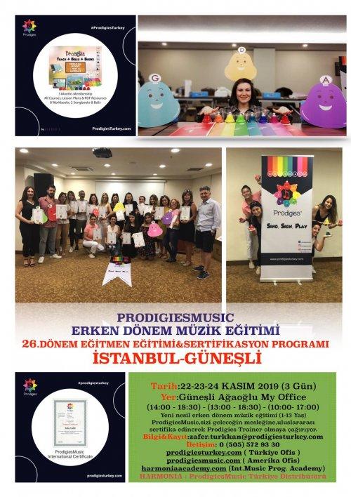 Prodigies Türkiye Erken Dönem Müzik Eğitimi 26. Dönem Eğitmen Eğitimi