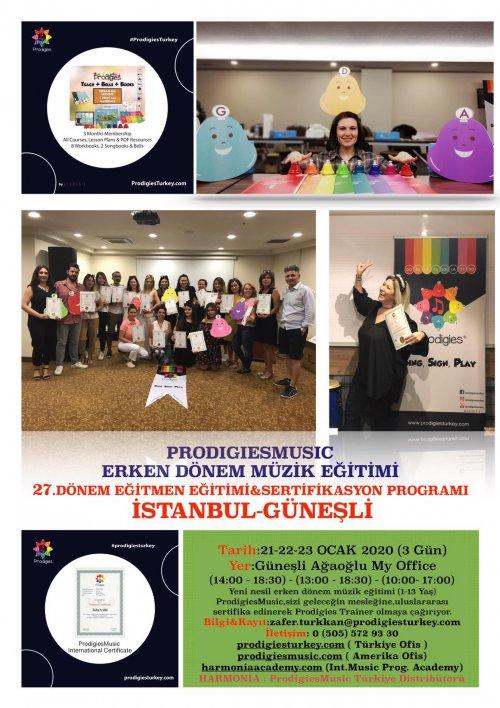 Prodigies Türkiye Erken Dönem Müzik Eğitimi 27. Dönem Eğitmen Eğitimi