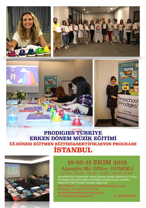 Prodigies Türkiye Erken Dönem Müzik Eğitimi 13. Dönem Eğitmen Eğitimi