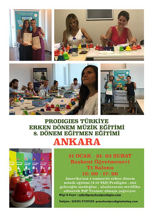 Prodigies Türkiye Erken Dönem Müzik Eğitimi 8. Dönem Eğitmen Eğitimi