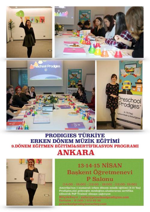 Prodigies Türkiye Erken Dönem Müzik Eğitimi 9. Dönem Eğitmen Eğitimi